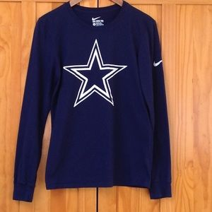 NIKE Blue Long Sleeve Star Print Front S